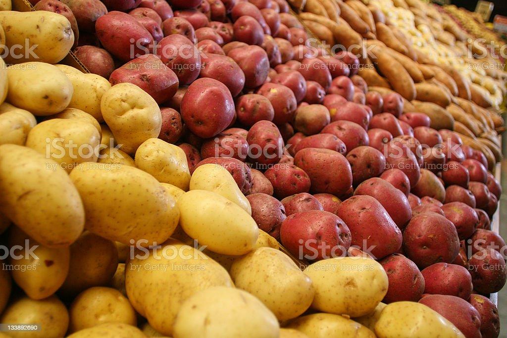 Potato aisle royalty-free stock photo