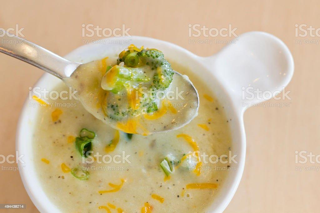 Potato Broccoli Soup stock photo