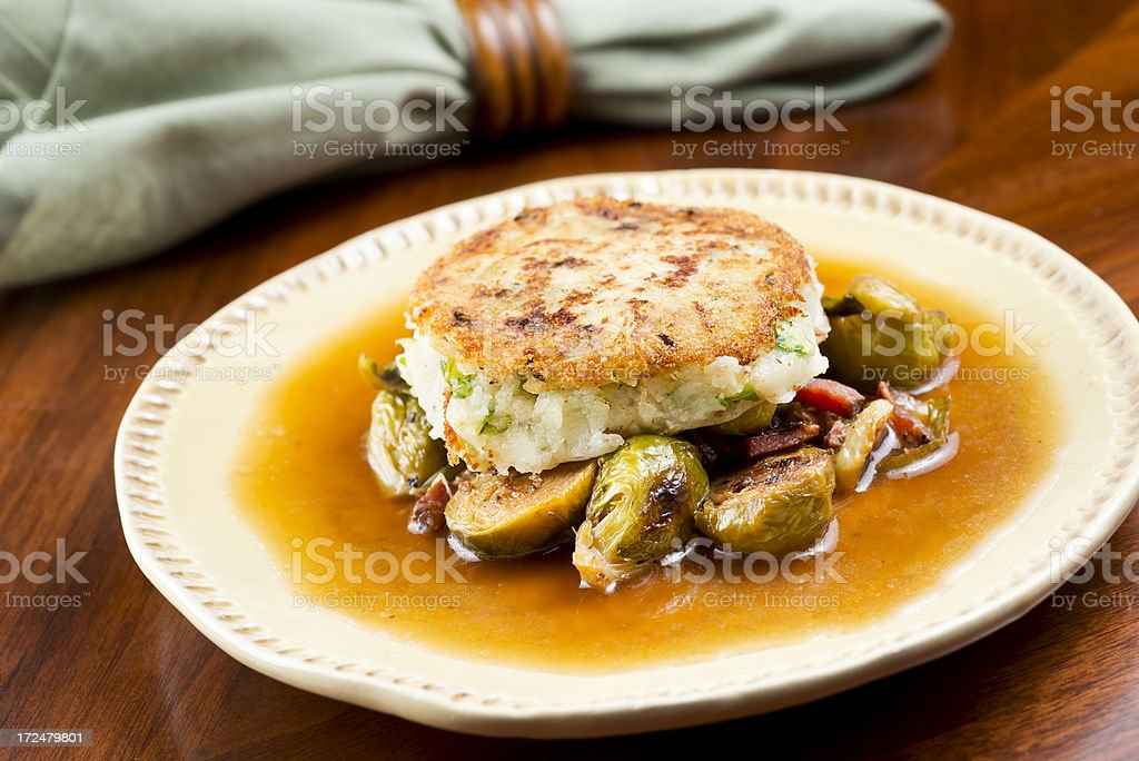 Potato Brussels Sprout Appetizer royalty-free stock photo