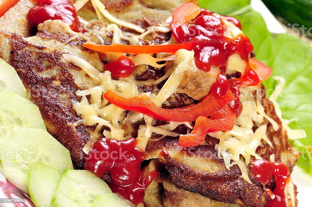 Potato cake royalty-free stock photo