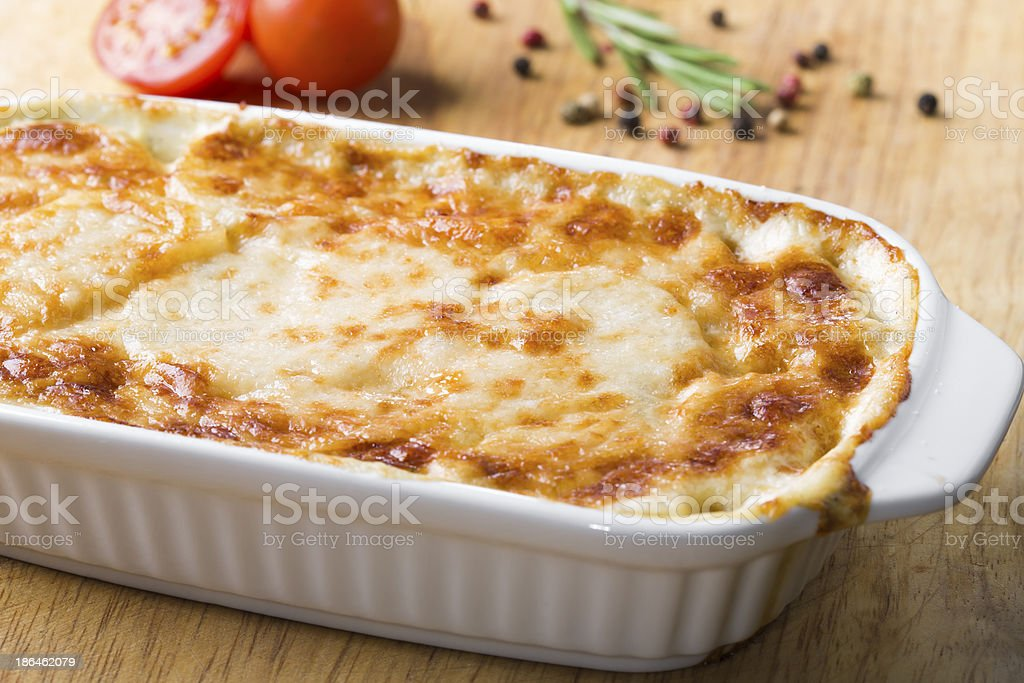 potato casserole with cheese royalty-free stock photo