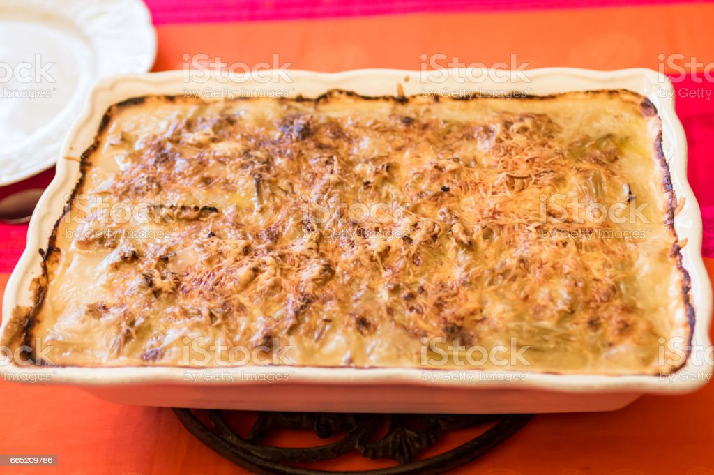 potato casserole with cheese stock photo
