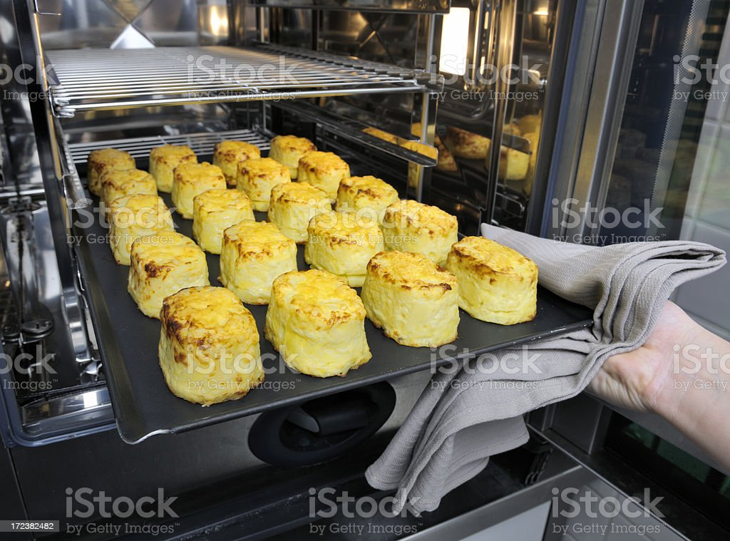 potato cheese souffles from the oven royalty-free stock photo