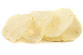 potato chip on white background.