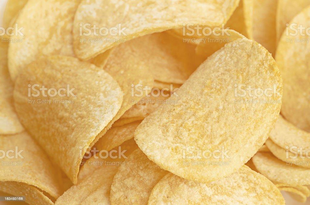 Potato chips background royalty-free stock photo