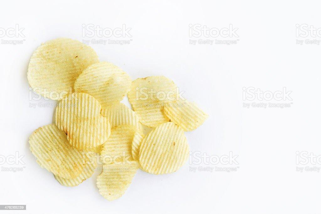 potato chips isolated royalty-free stock photo