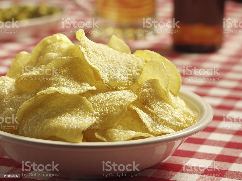 Patatas Chips stock photo