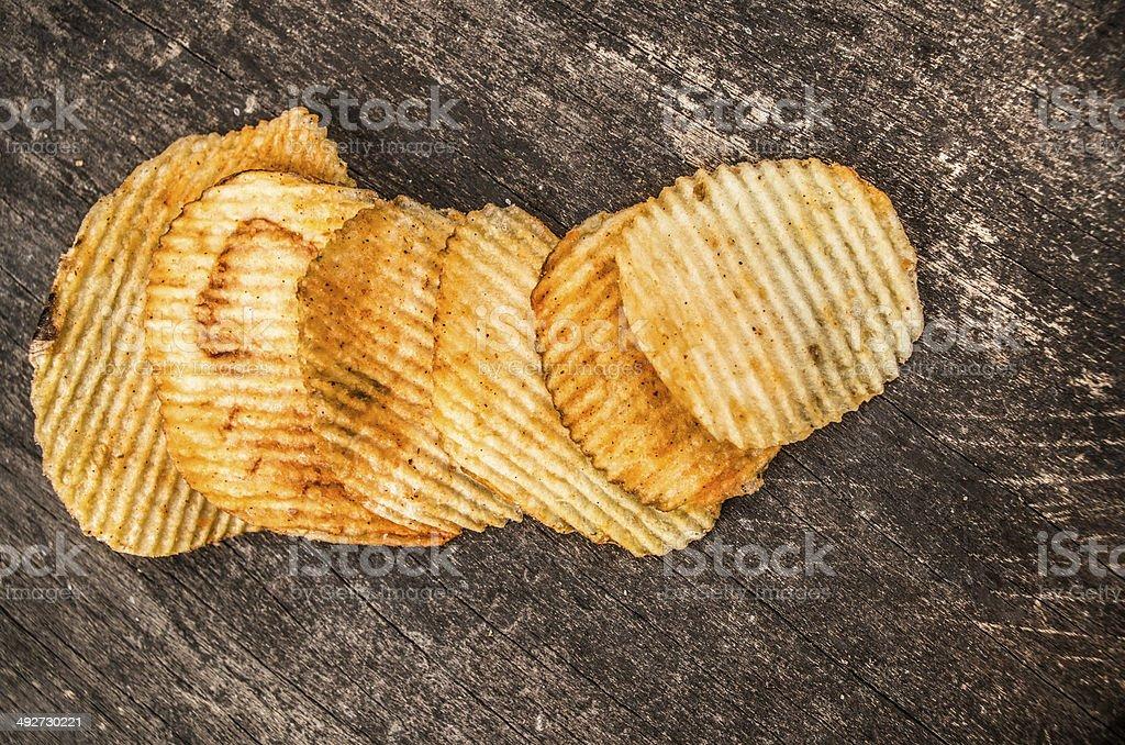 potato chips snacks stock photo
