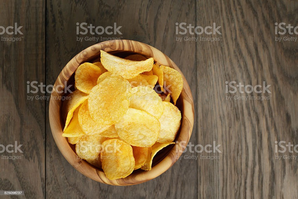 potato chips with paprika stock photo