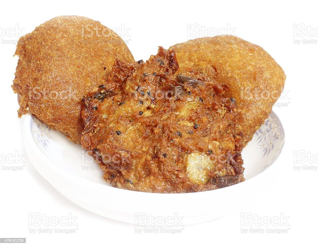 Potato chop & Piyazu stock photo
