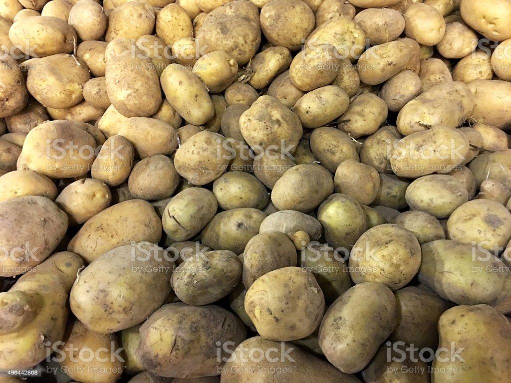 Potato close up stock photo