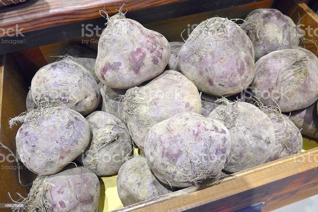 Potato closeup in market stock photo