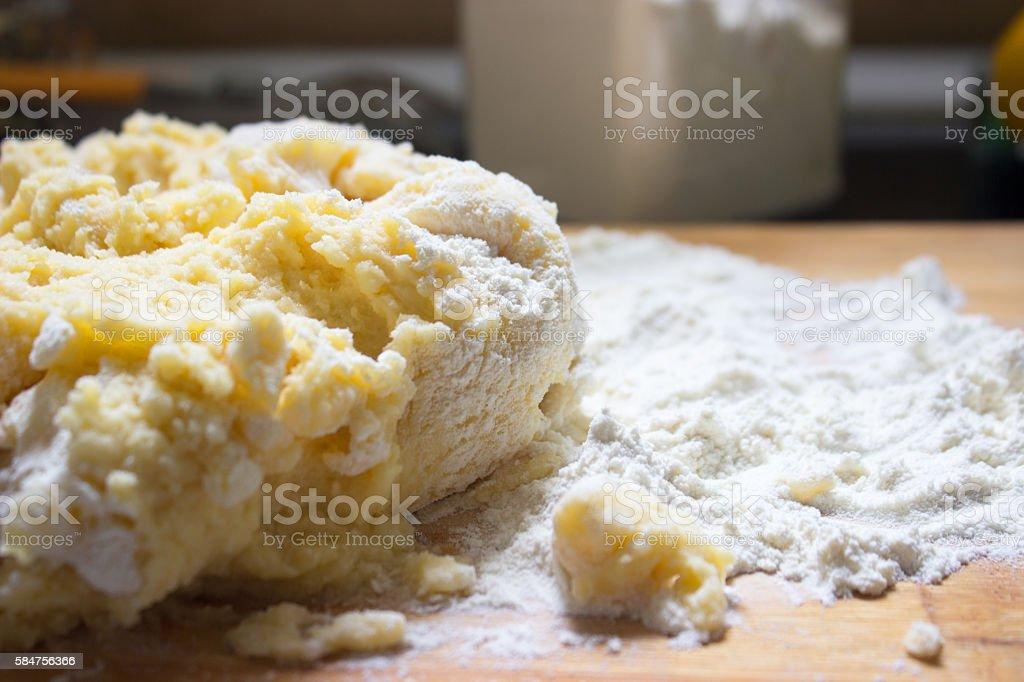 Potato dough stock photo