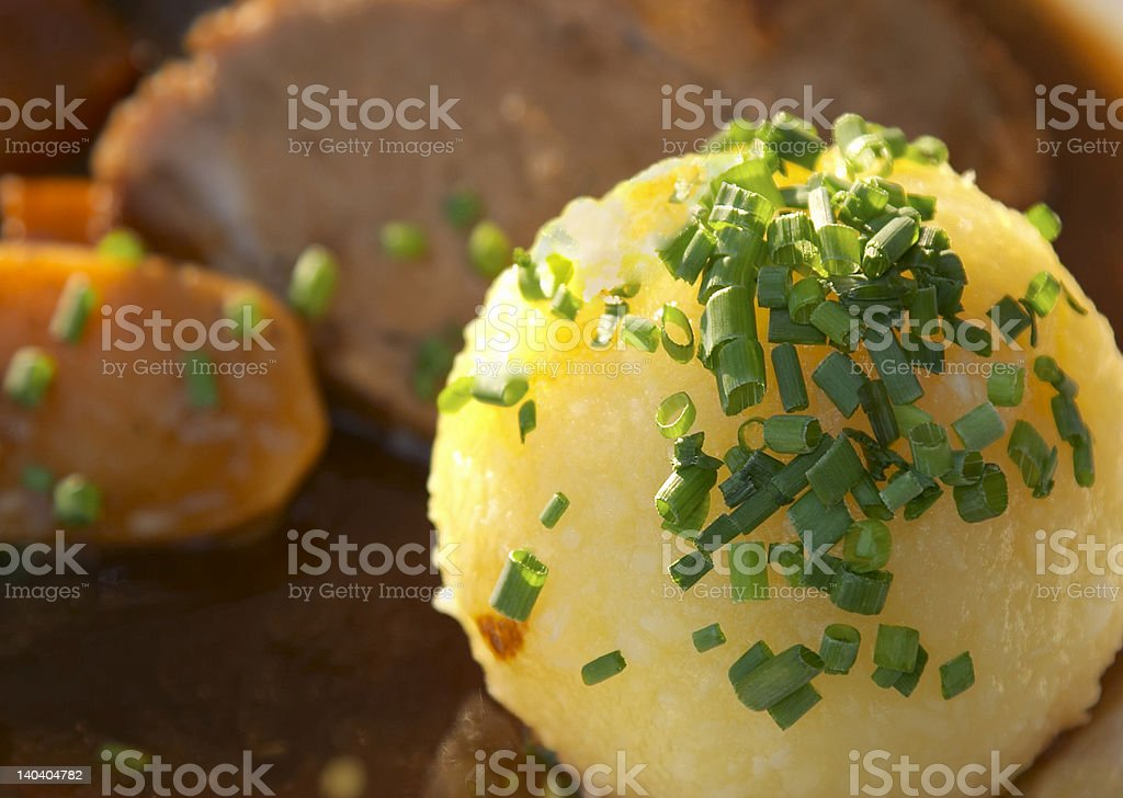 Potato dumpling stock photo