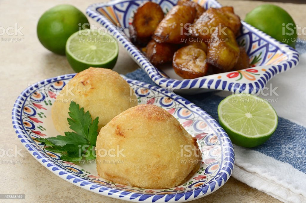 Rellenos de Papa stock photo