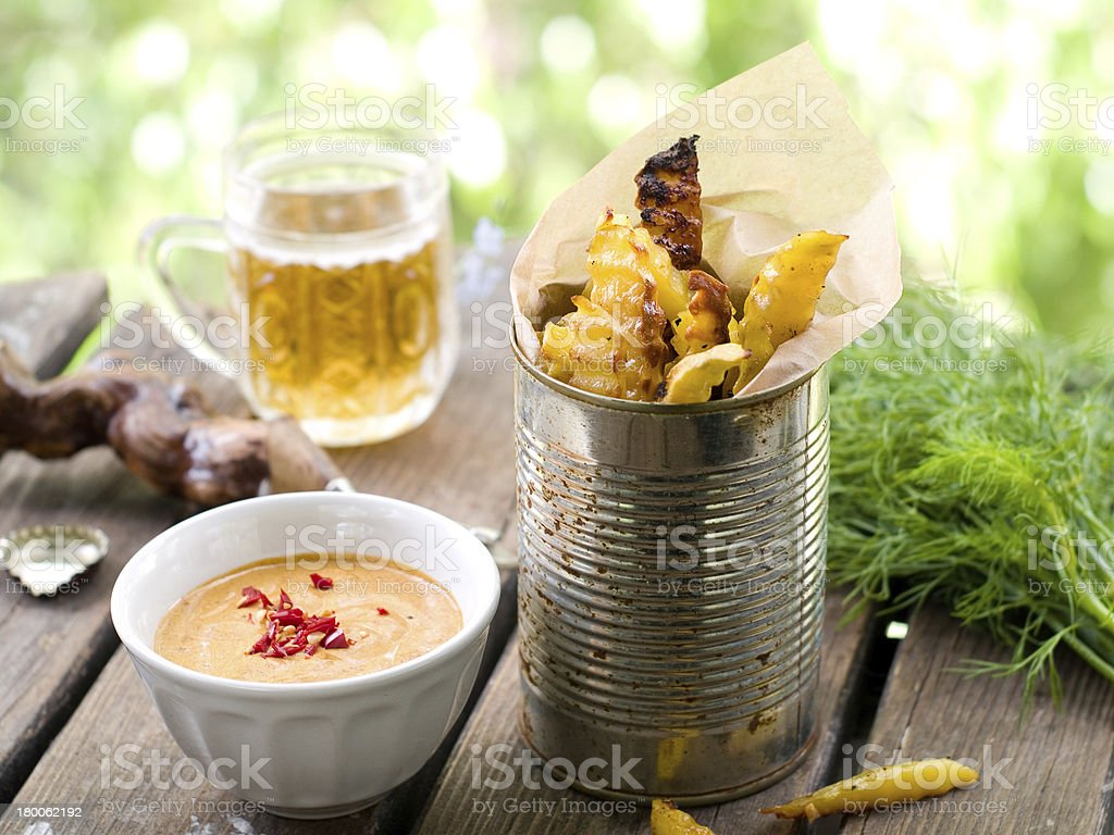 Potato fries stock photo