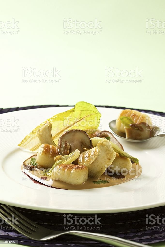 Potato Gnocchi on Plate stock photo