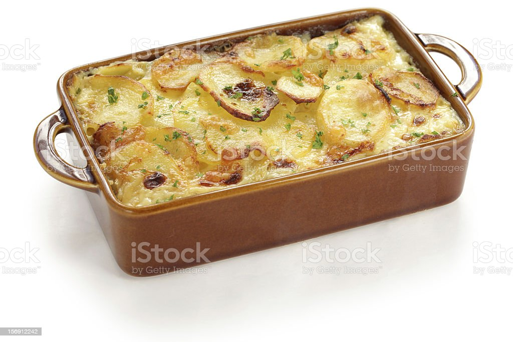 potato gratin stock photo