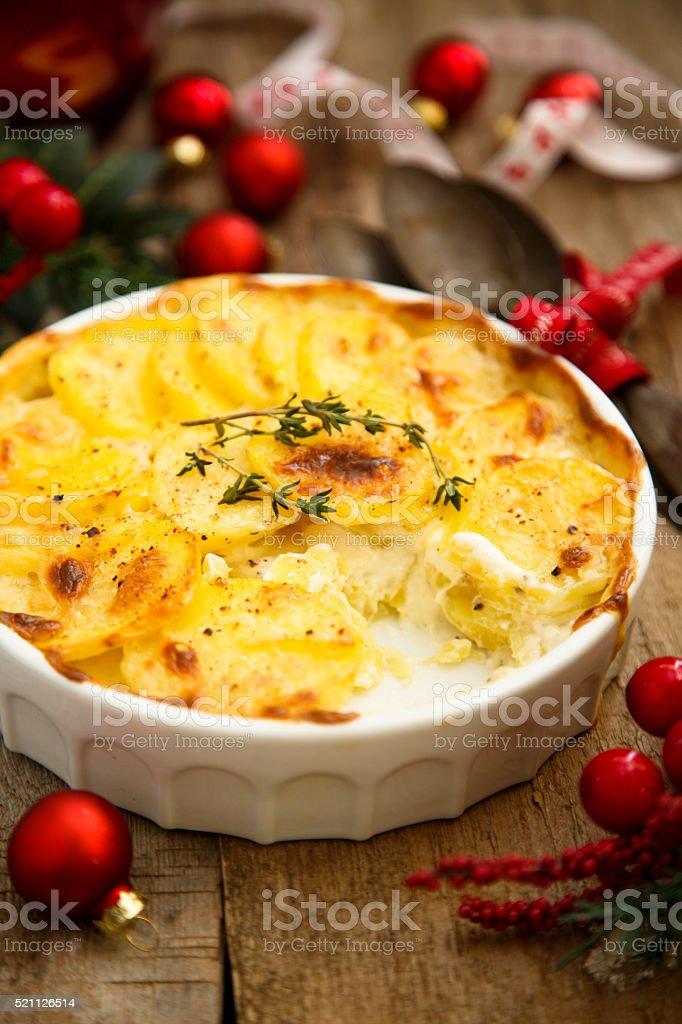 Potato gratin stock photo