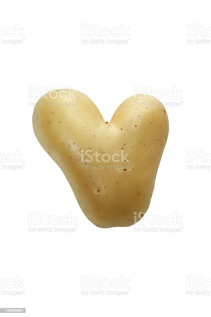 Potato heart stock photo