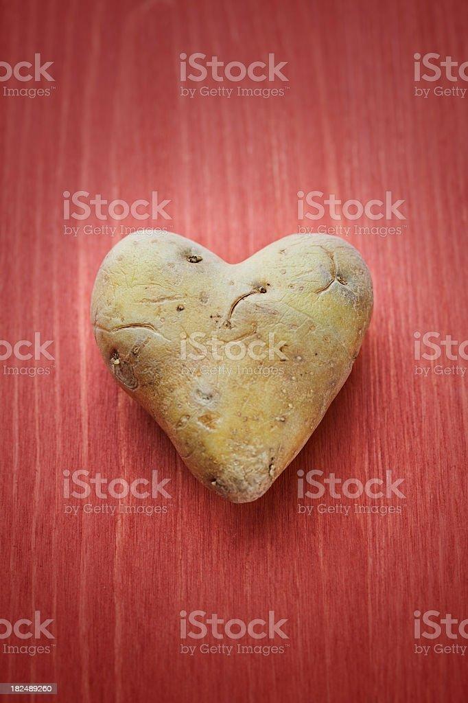 Potato heart royalty-free stock photo