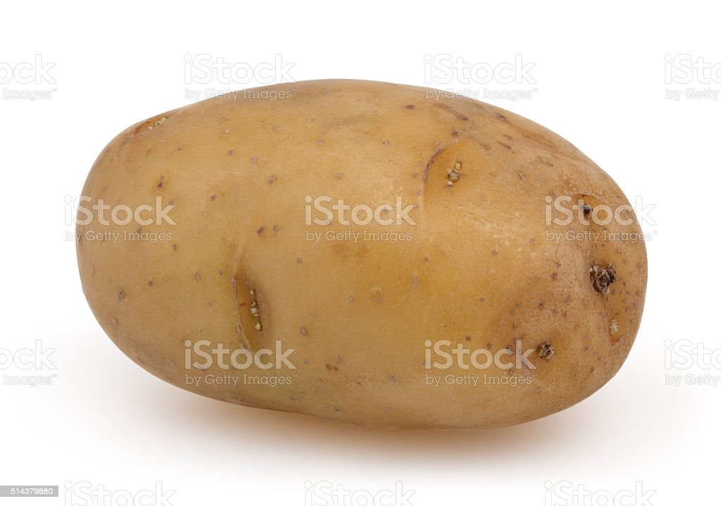 Potato isolated on white background with clipping path stock photo