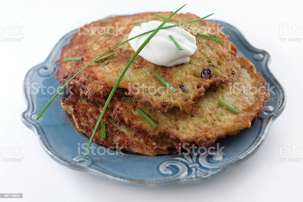 Potato Latkes stock photo