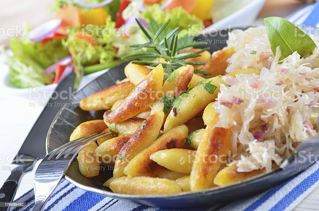 Potato noodles stock photo