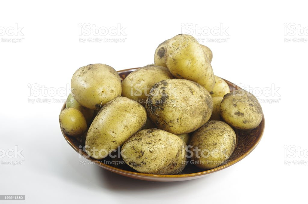potato on plate royalty-free stock photo