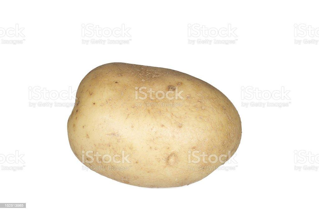 Potato on white background royalty-free stock photo