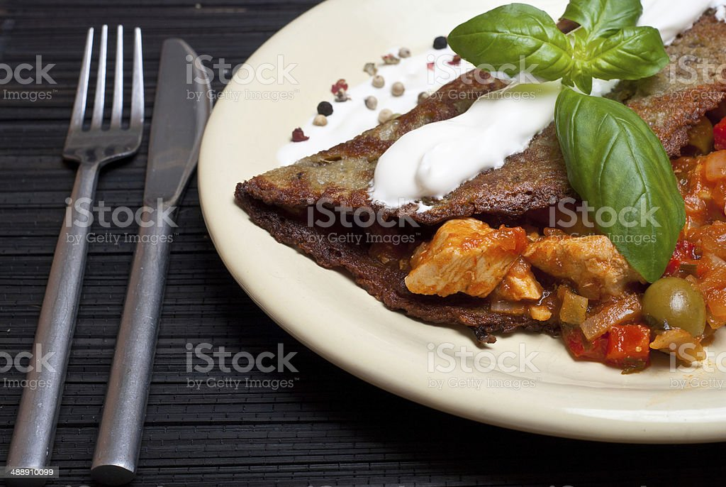 Crep de patata foto de stock libre de derechos