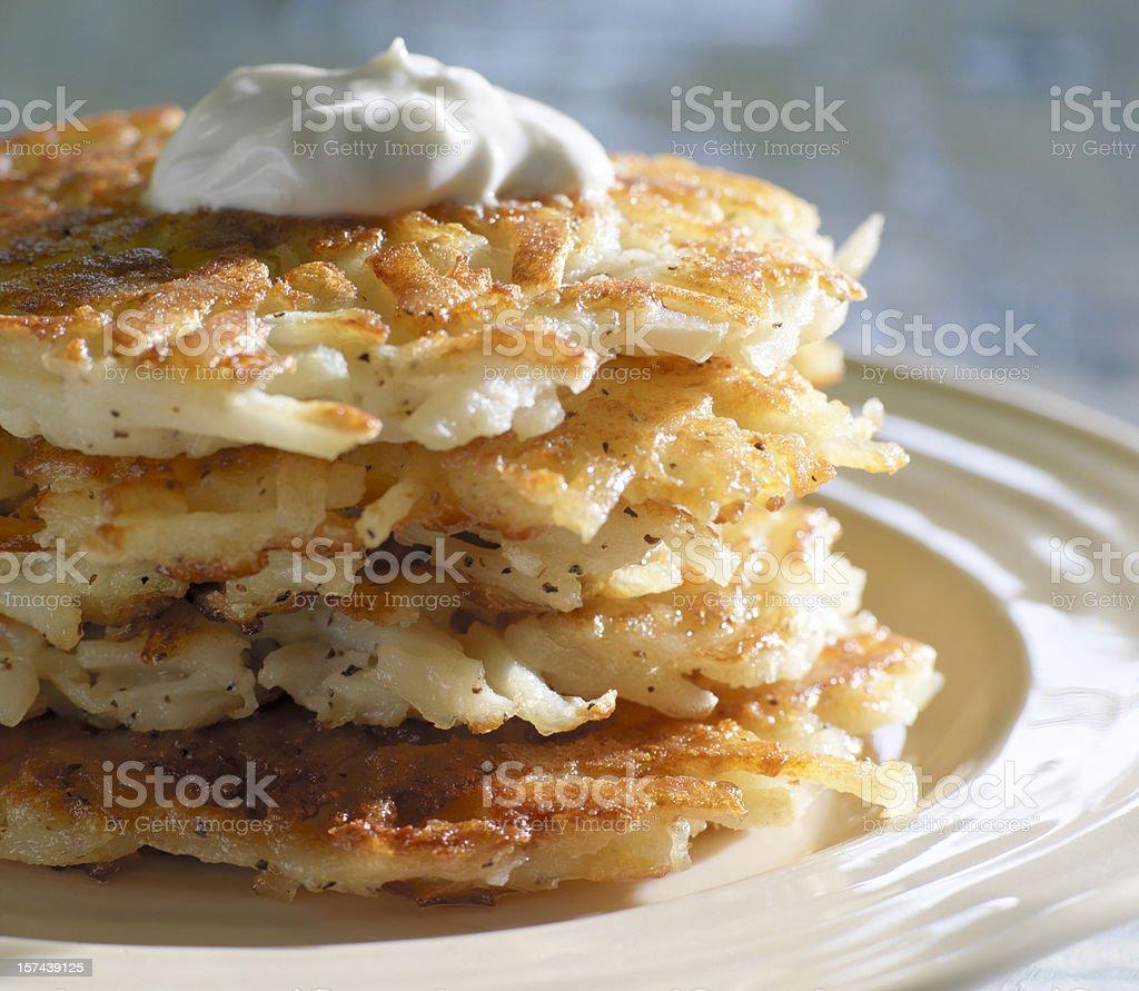 Potato Pancakes royalty-free stock photo