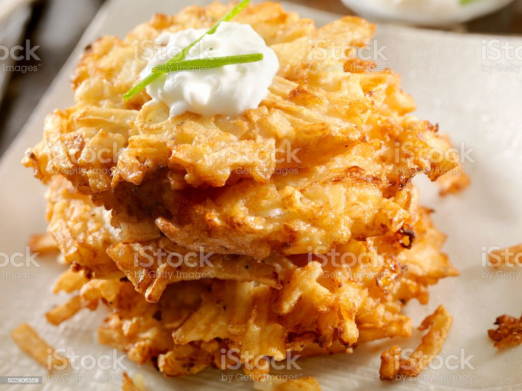 Potato Pancakes stock photo