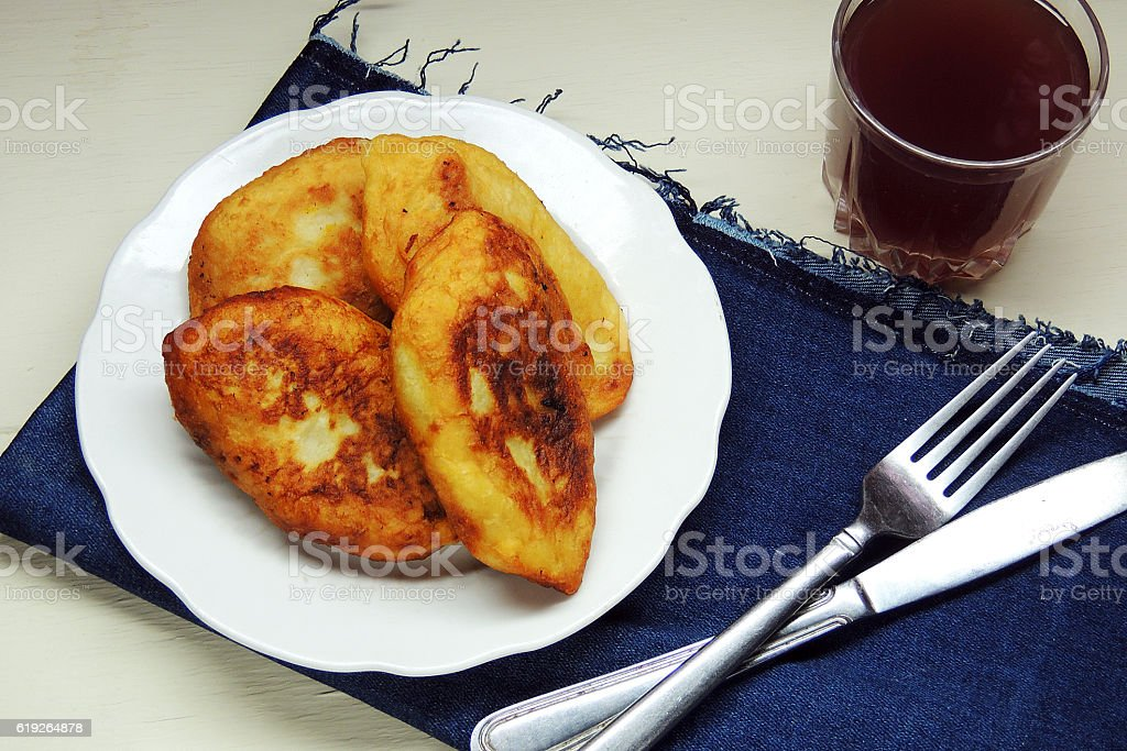 Potato patties with Kale stock photo