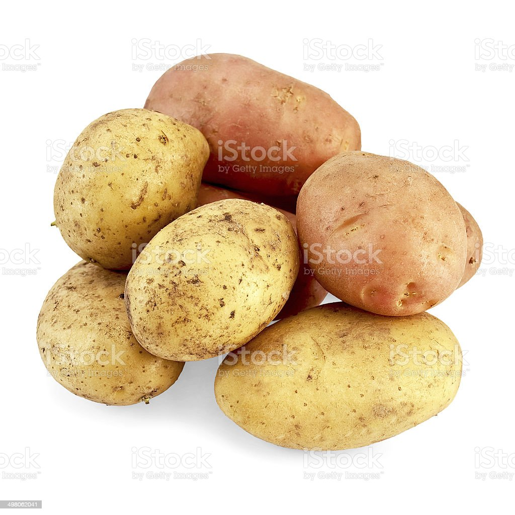 Potato pink and yellow royalty-free stock photo