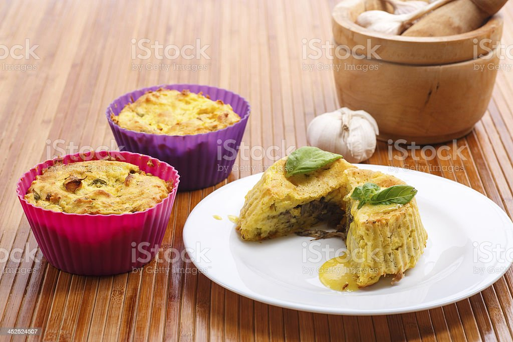 potato pudding stock photo