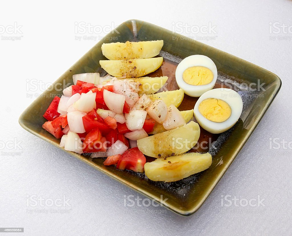 Potato salad with eggs royalty-free stock photo