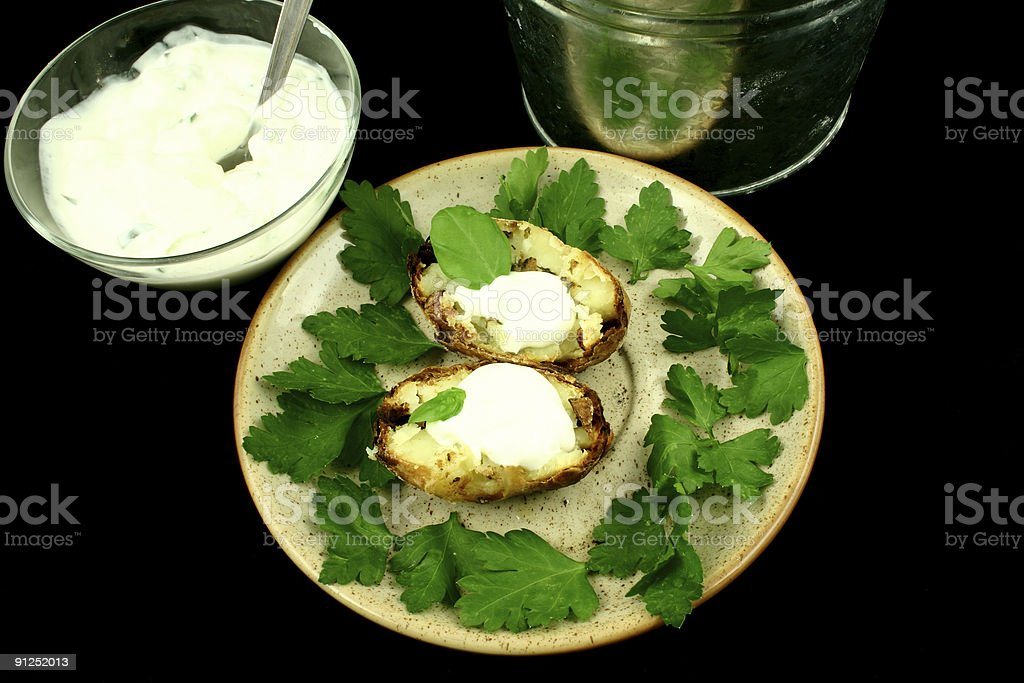 Potato served royalty-free stock photo