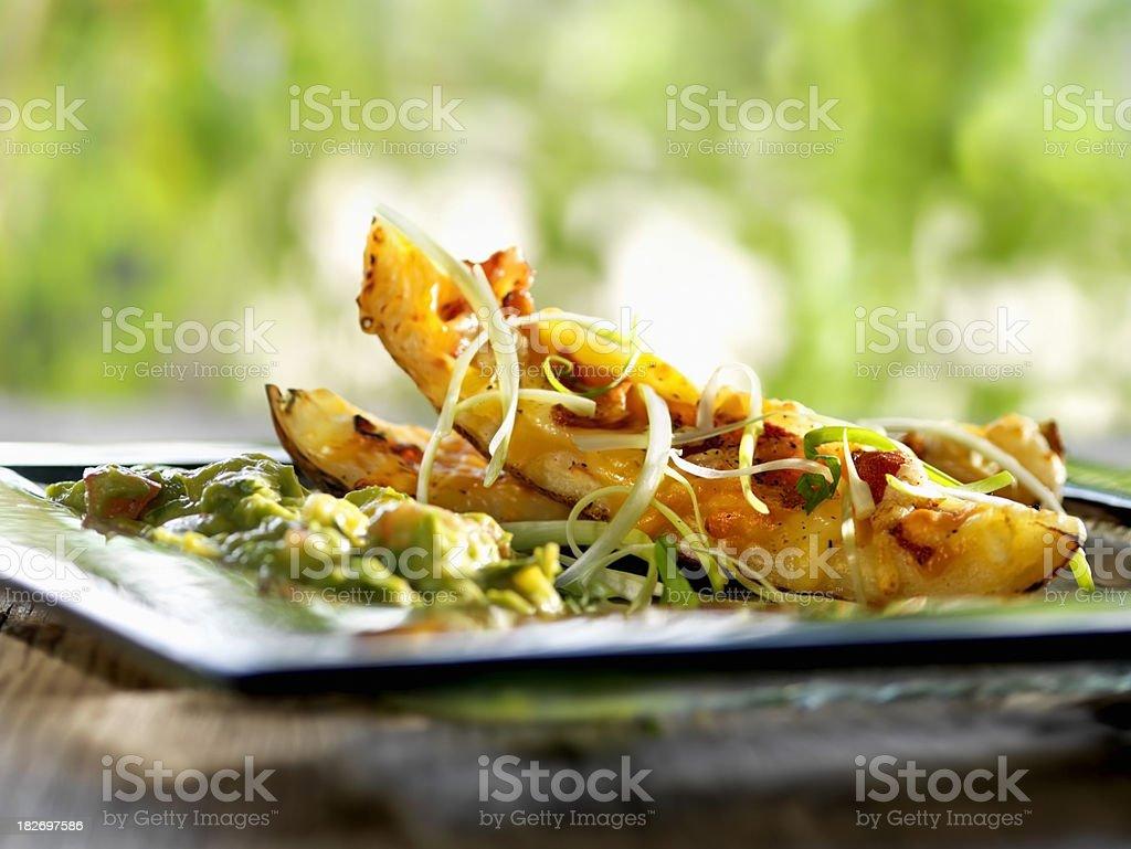 Potato Skins With Bacon stock photo