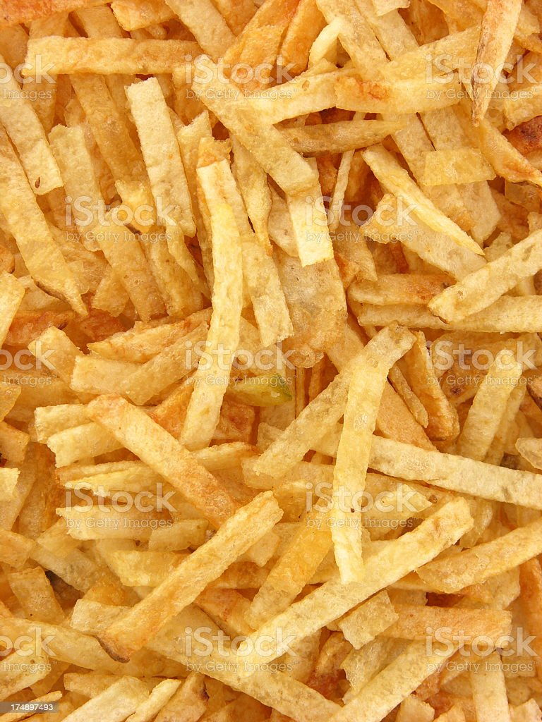 Potato snacks background stock photo