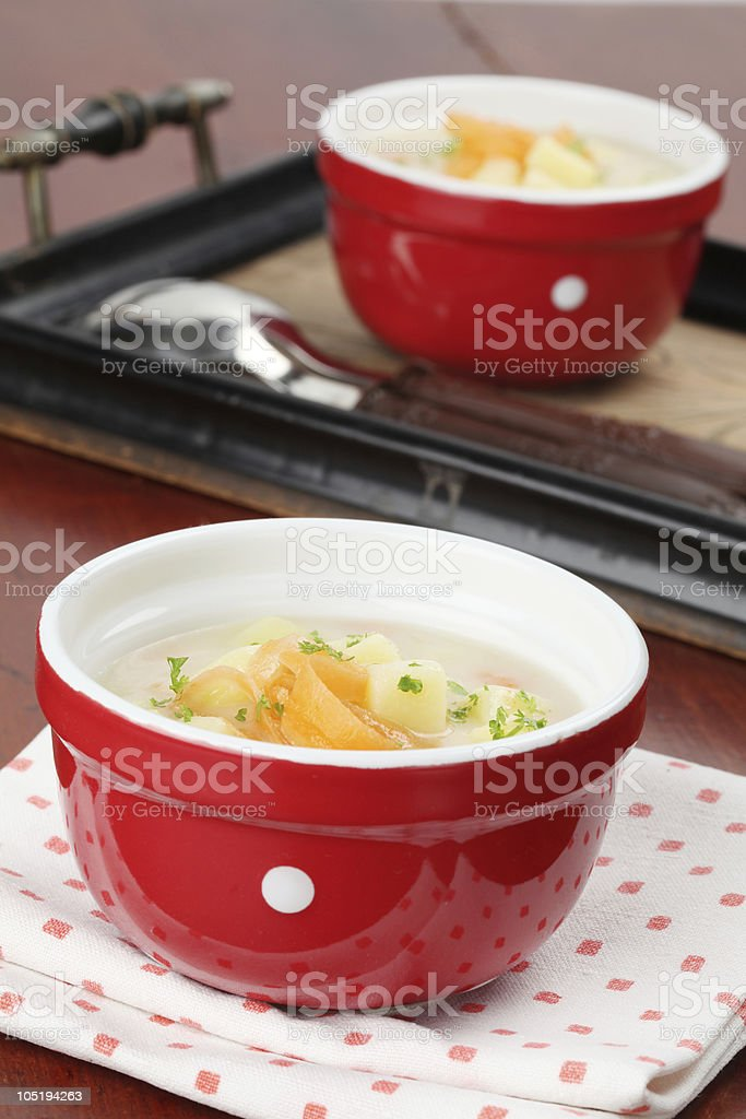 Potato soup royalty-free stock photo