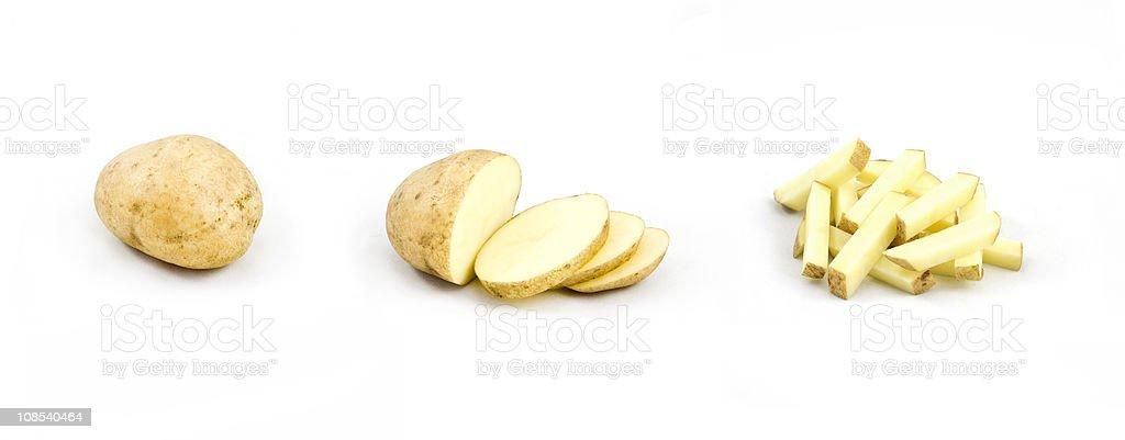 Potato triptych stock photo