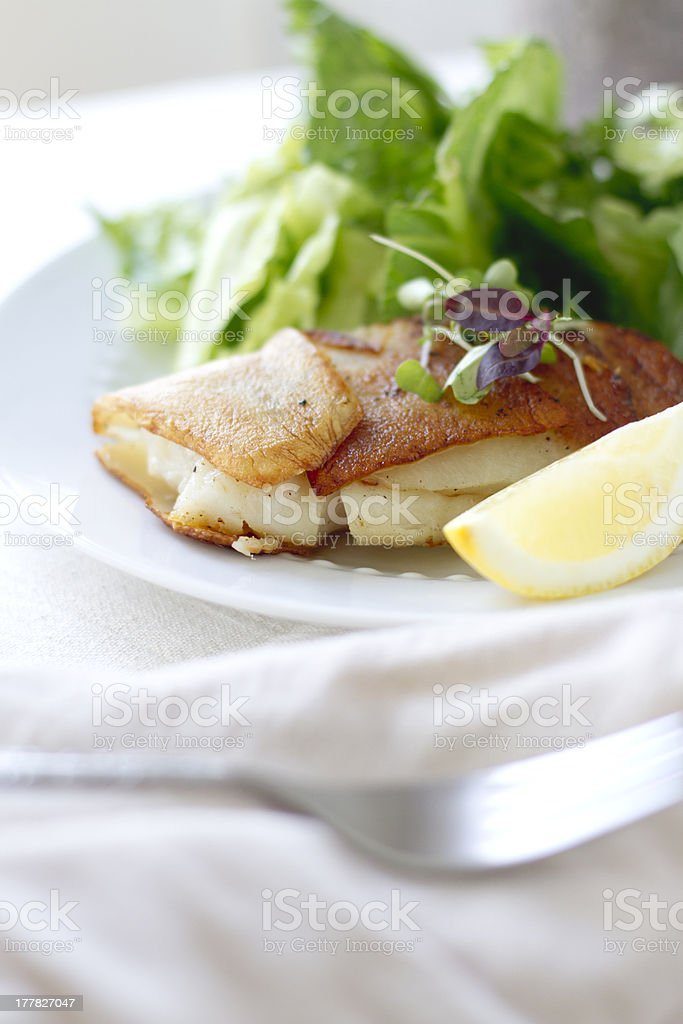 Potato Wrapped Cod royalty-free stock photo