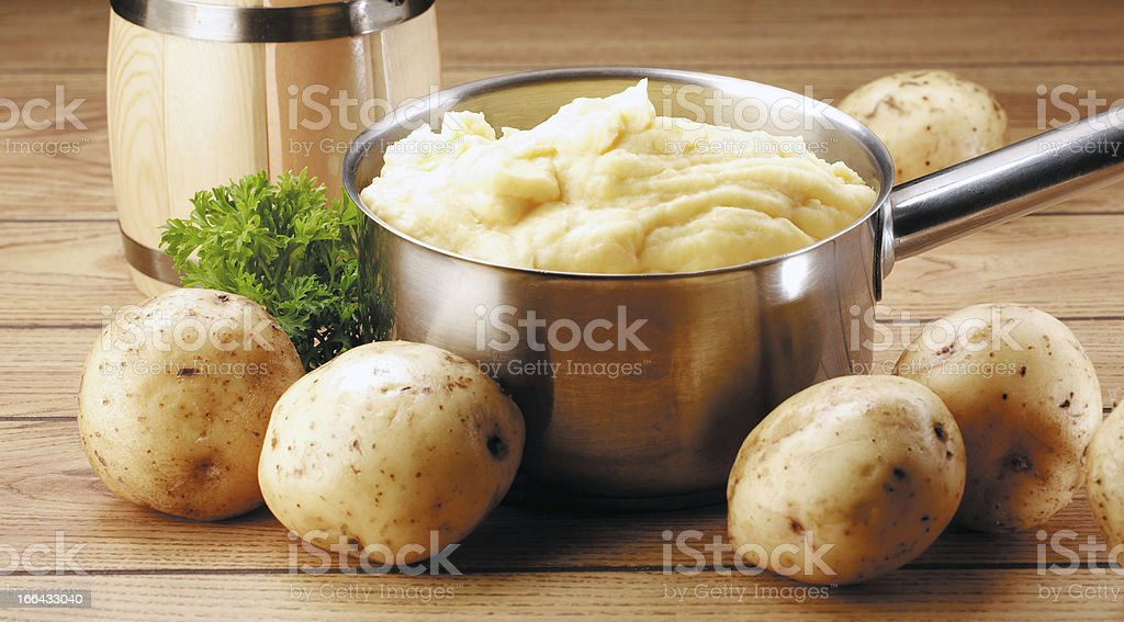 potatoes and puree royalty-free stock photo
