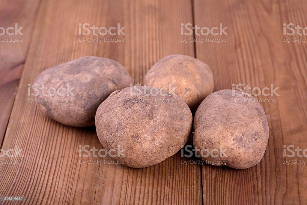 Potatoes are healthy but not in any form stock photo