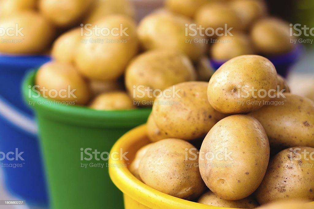 Potatoes at local market royalty-free stock photo