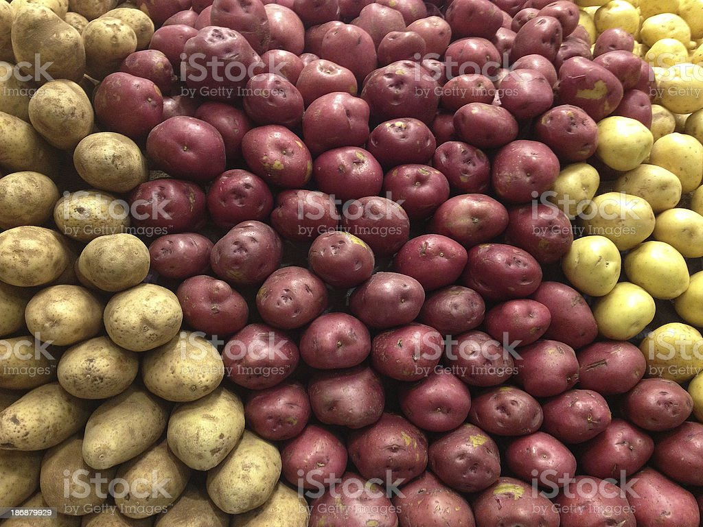 Potatoes at The Supermarket royalty-free stock photo