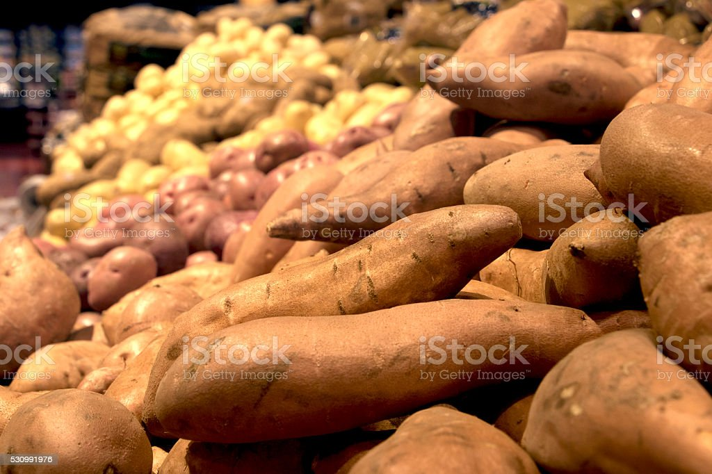 Potatoes at the Supermarket stock photo