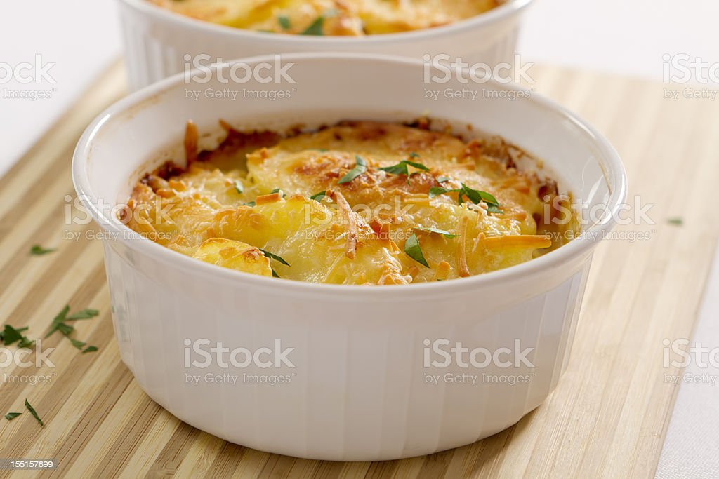 Potatoes au Gratin stock photo