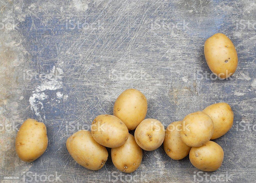 Potatoes Border stock photo